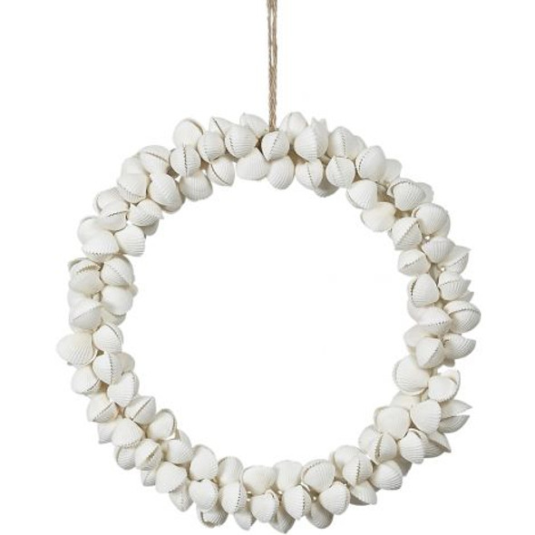 White Clam Rose Shell Wreath