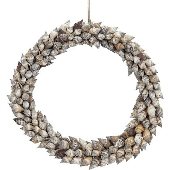 Brown Chula Shell Wreath