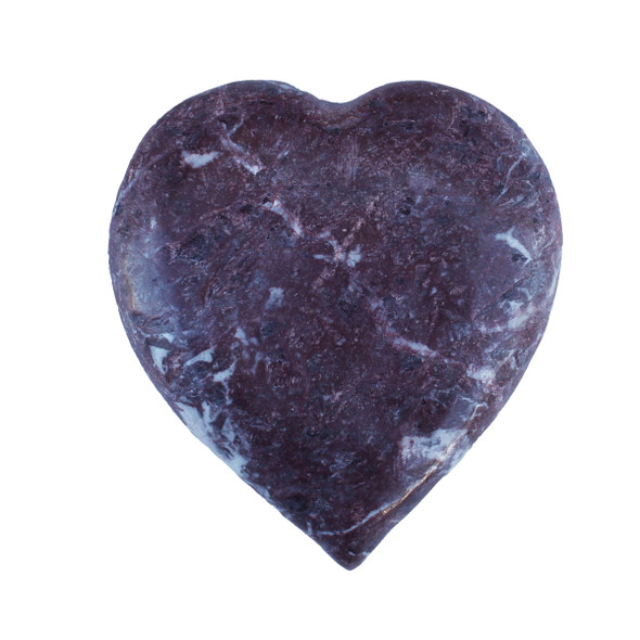 Red Zebra Stone Heart