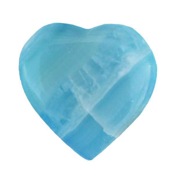 Blue Grain Stone Heart