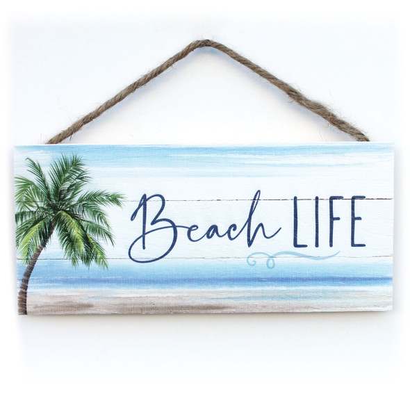 Beach Life Rope Sign