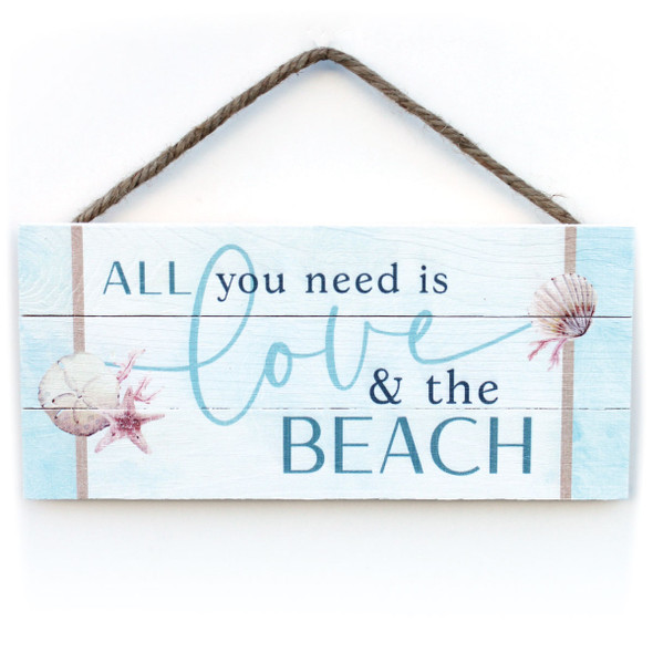 Love and the Beach Rope Sign