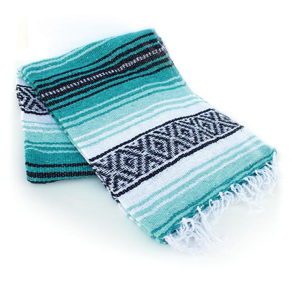 Teal & Aqua Mexican Blanket
