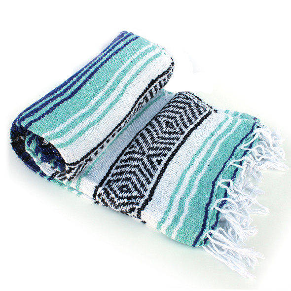 Blue and Aqua Beach Baja Throw