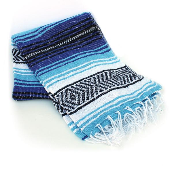Cobalt And Light Blue Beach Blanket