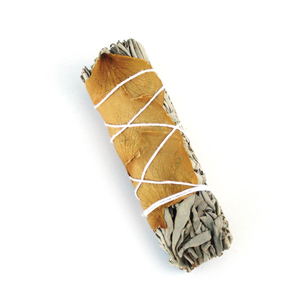 Sage Smudge Bundle with Yellow Petals