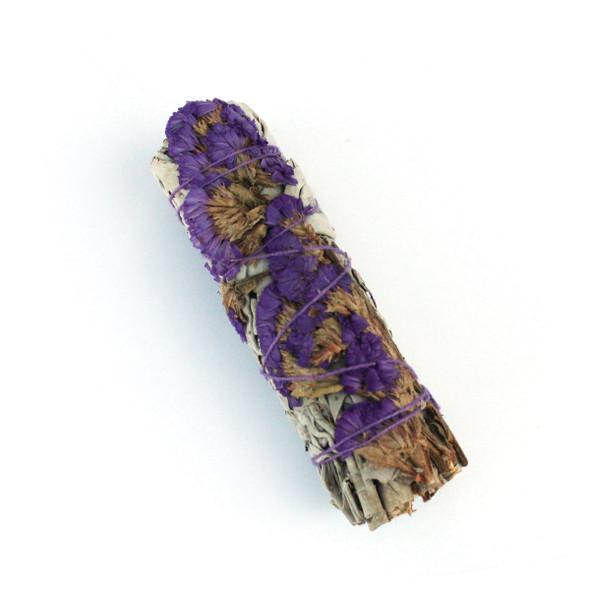 Sage with Purple Flower Petals