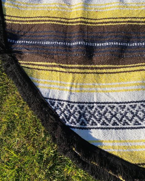 Yellow and Brown Yoga Blanket