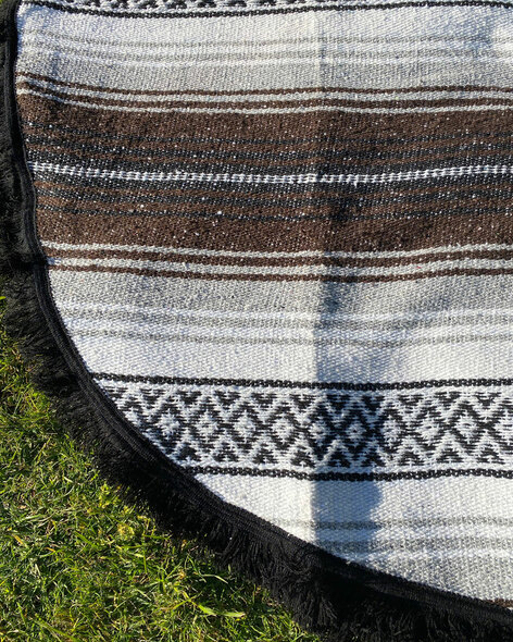 Brown Round  Yoga Blanket