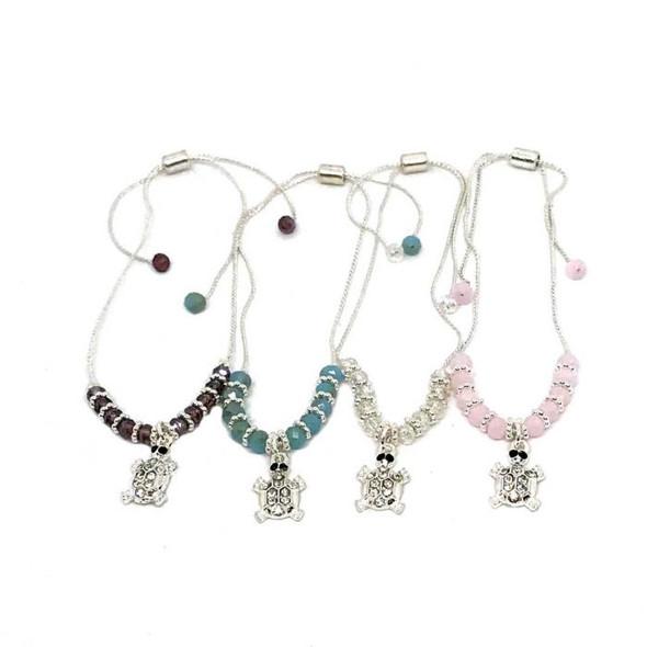 Sea Turtle Crystal Bead Bracelet