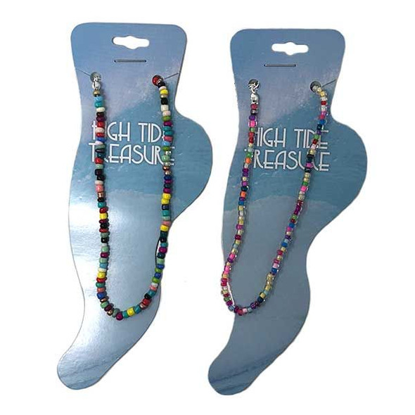 Multicolor Seed Bead Anklets