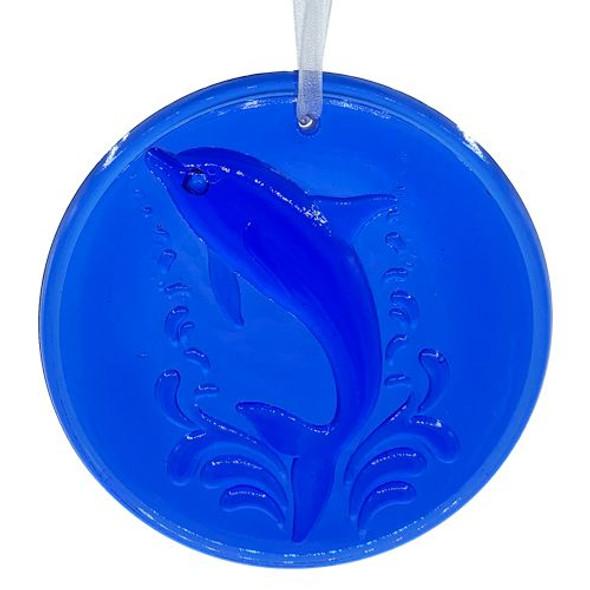 Cobalt Dolphin Sun Catcher