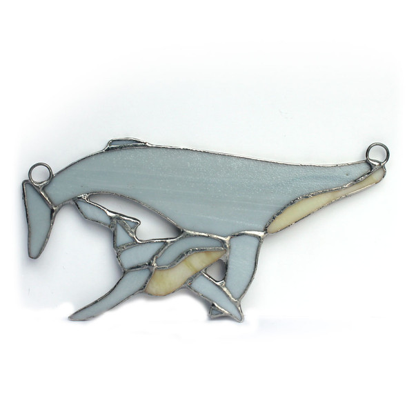 Humpback Whale & Baby Stained Glass