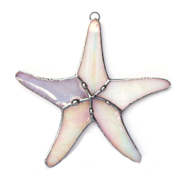 White Starfish Stained Glass