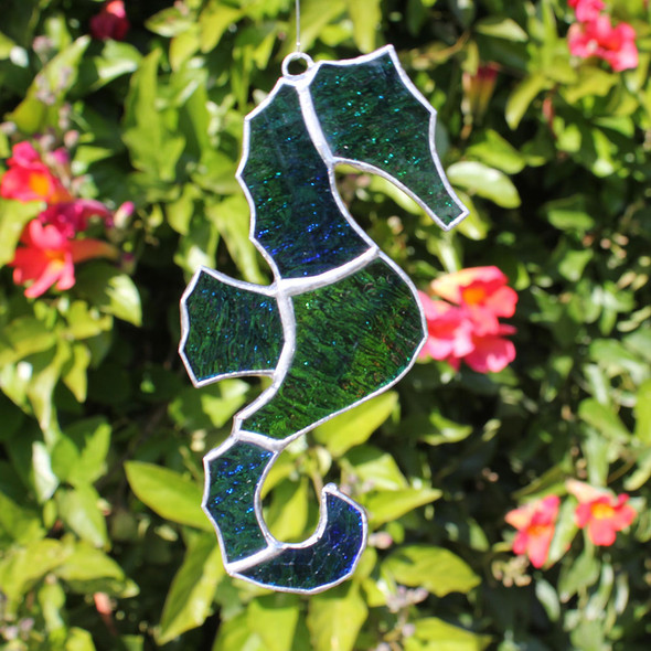 Multi Colored Seahorse Stained Glass