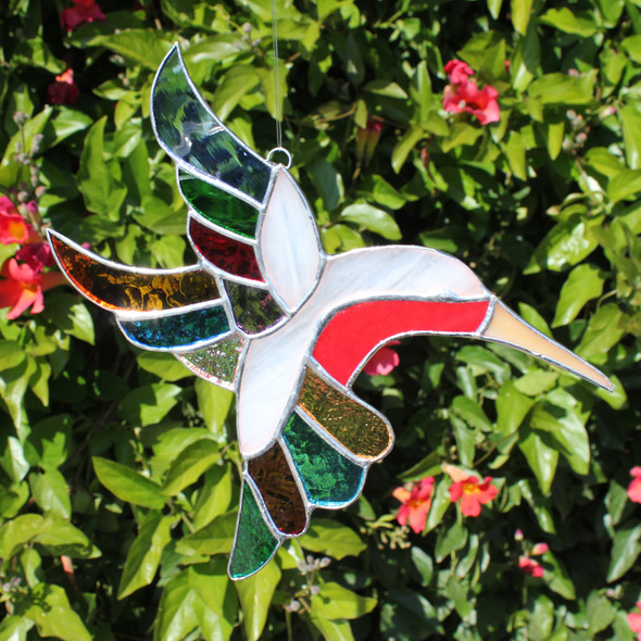 Rainbow Hummingbird Sun Catcher