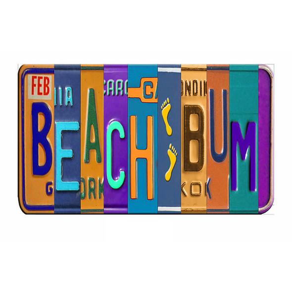 Beach Bum License Plate