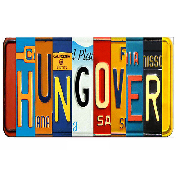 Hungover License Plate
