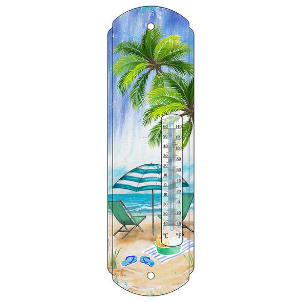 Beach Scene Thermometer