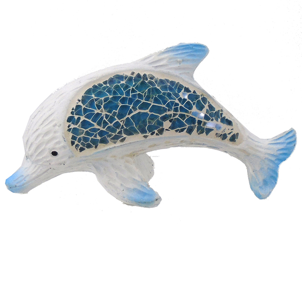 Mosaic Dolphin Figurine