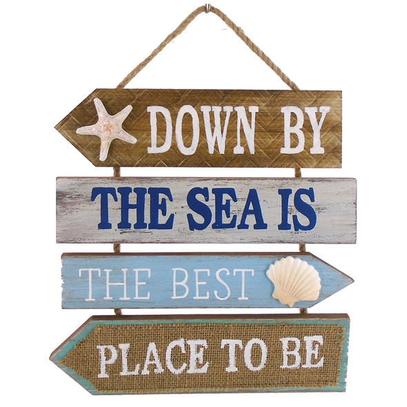 Down by the Sea Plaque Rope Sign