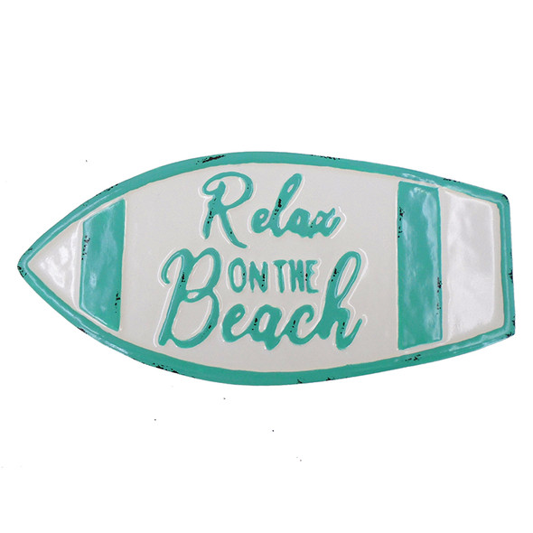 Relax on the Beach Metal Surfboard