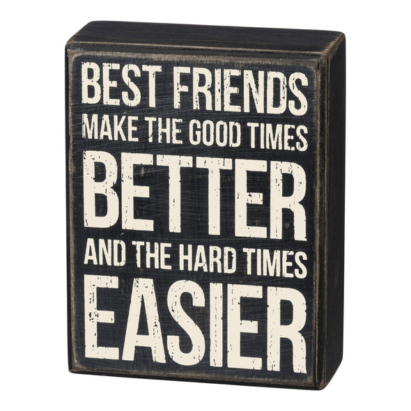 Best Friends Box Sign