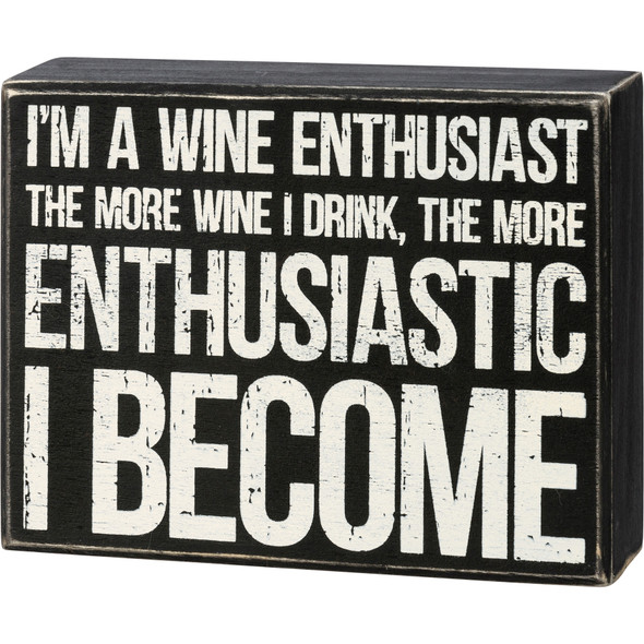 Wine Enthusiast Sign