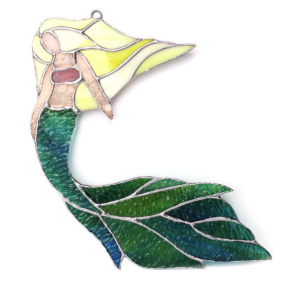 Blonde Flowing Hair Mermaid
