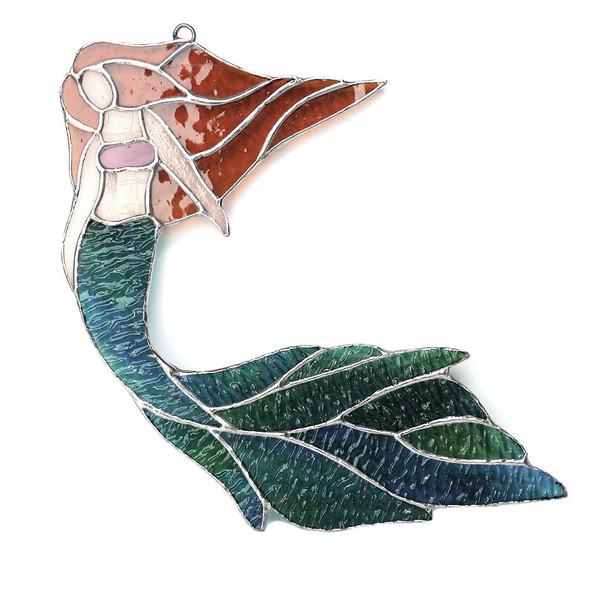 Brunette Flowing Hair Mermaid