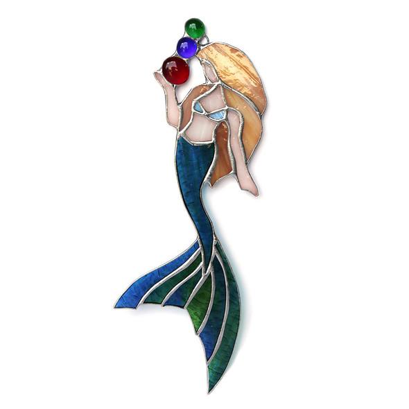 Brunette Mermaid Bubbles