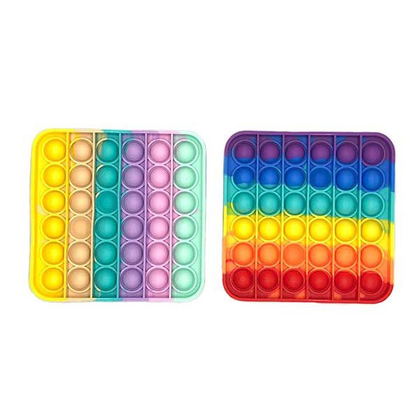 Square Rainbow Poppers