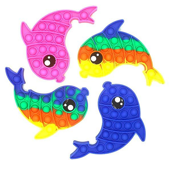 Dolphin Fidget Poppers - Assorted Colors