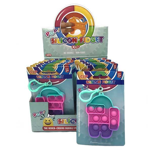 Pastel Bubble Pop Fidget Keychain