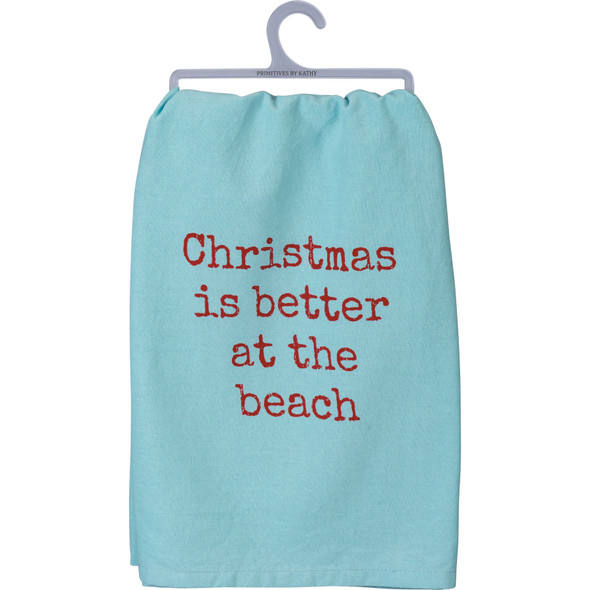 Christmas is Better at the Beach Towel