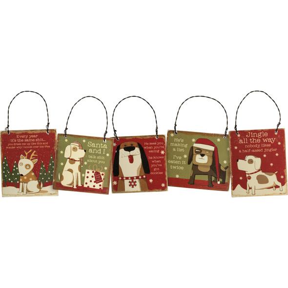 Sassy Dog Ornaments