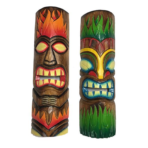 Flame Tiki Masks