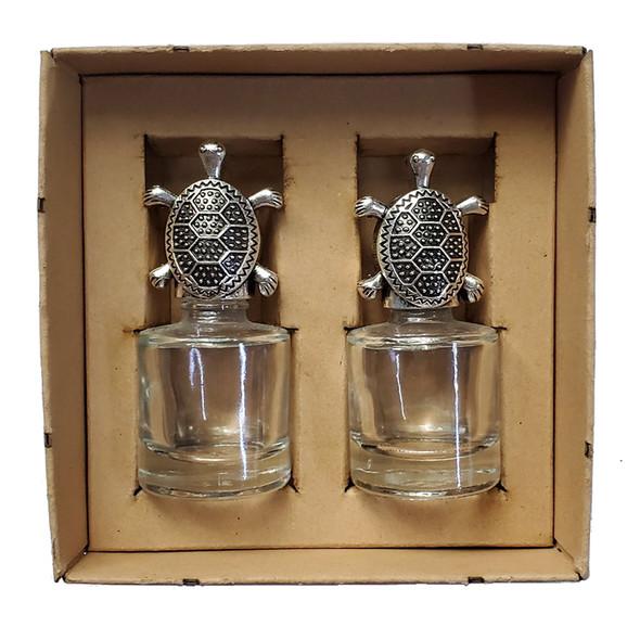 Sea Turtle Glass Salt. & Pepper Shakers