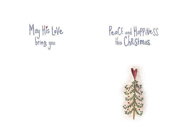 May His love bring you peace and happiness this Christmas.