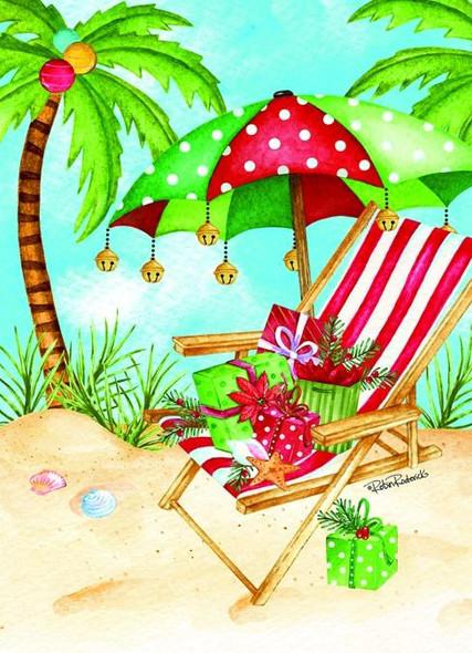 Umbrella Chair Holiday Card