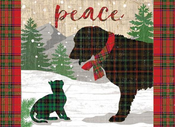 Peace Pets Christmas Card