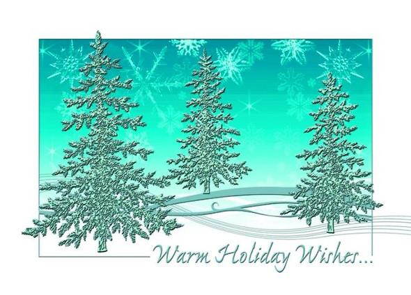 Three Trees Holiday Wishes