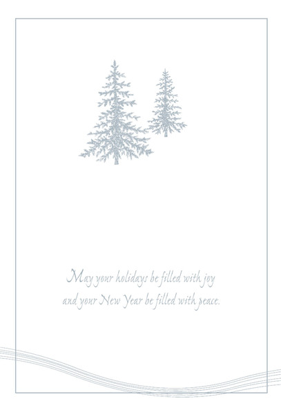 May your holidays be filled with joy and your New Year be filled with peace.