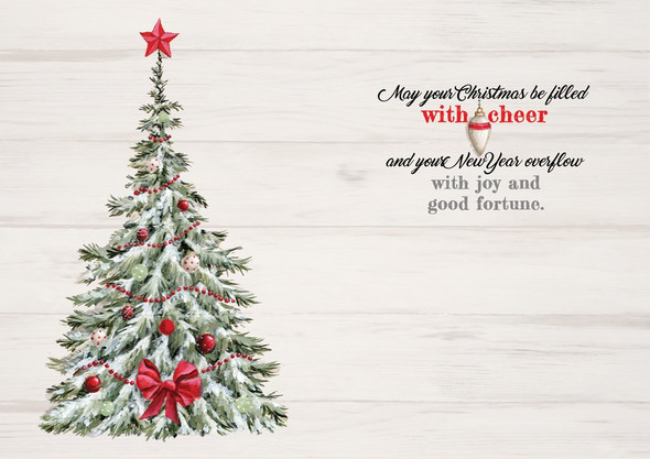 May your Christmas be filled with cheer and you New Year overflow with joy and good fortune.