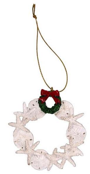 Sand Dollar & Starfish Wreath Ornament