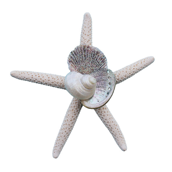White Finger Starfish Collage Magnet
