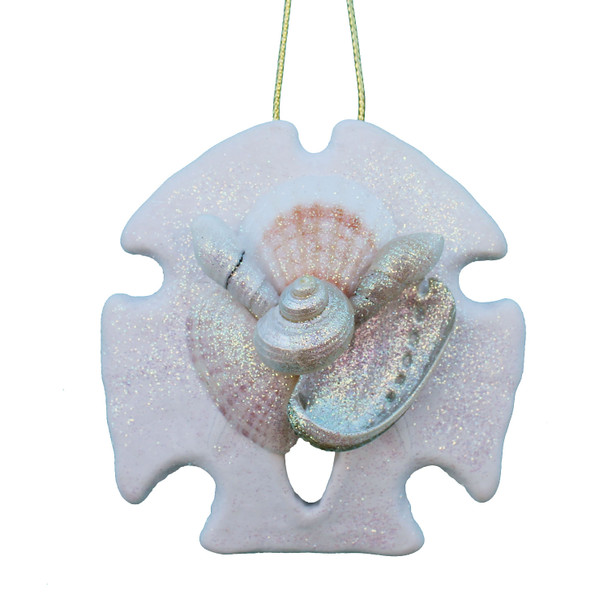 Hand-Crafted Sand Dollar Collage Ornament
