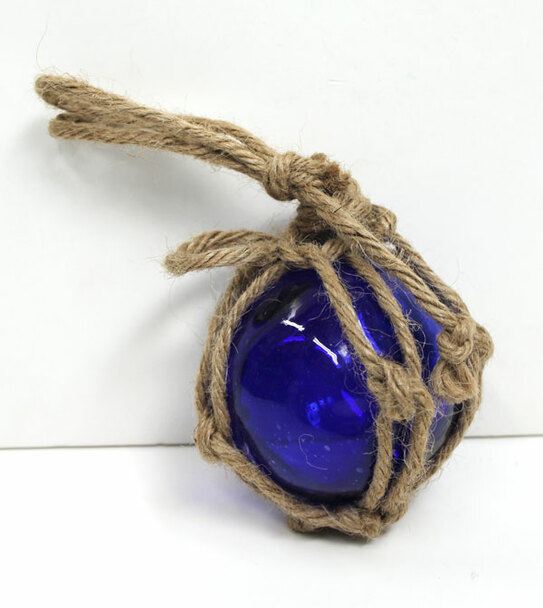 "Dark Blue Glass Float 3"""