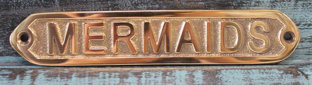 Brass Mermaids Plaque
