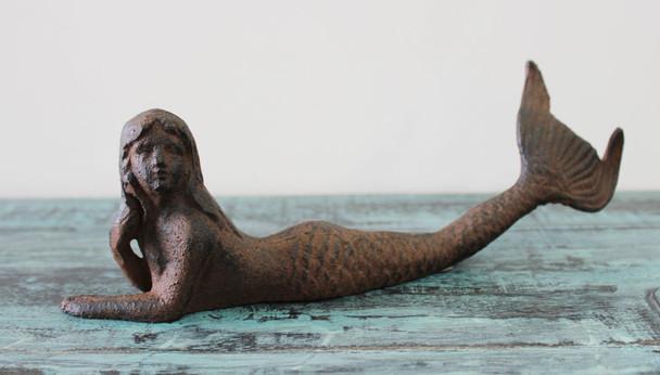 Brown Iron Mermaid Figurine